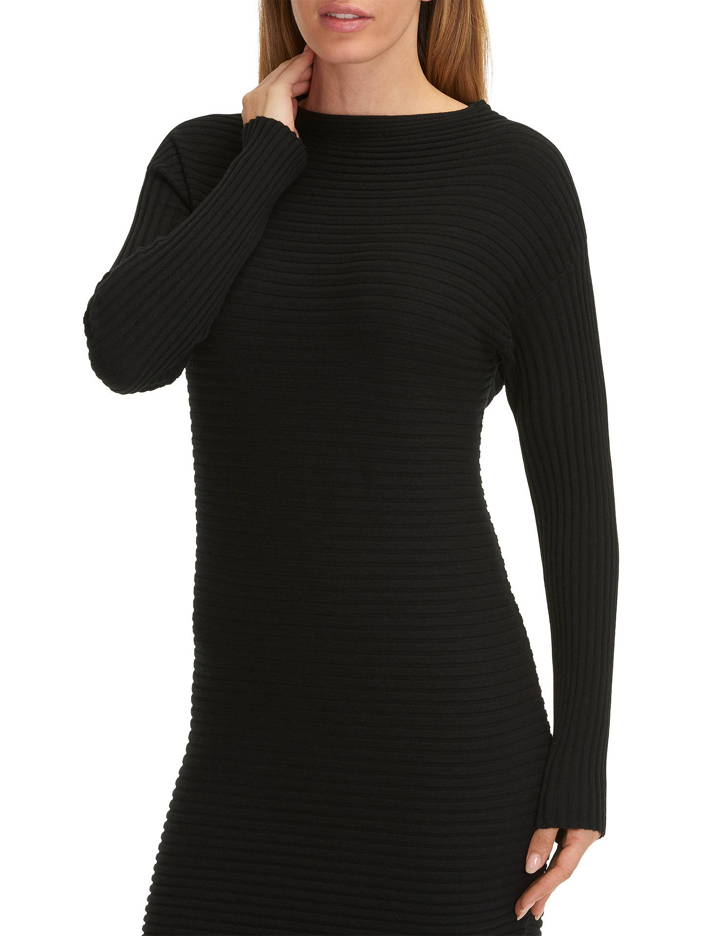Buy Betty Barclay Ribbed Knit Dress, Black, 8 Online at johnlewis.com