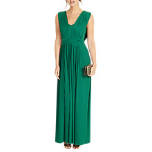 Buy Phase Eight Aldora Pleat Dress, Emerald Online at johnlewis.com