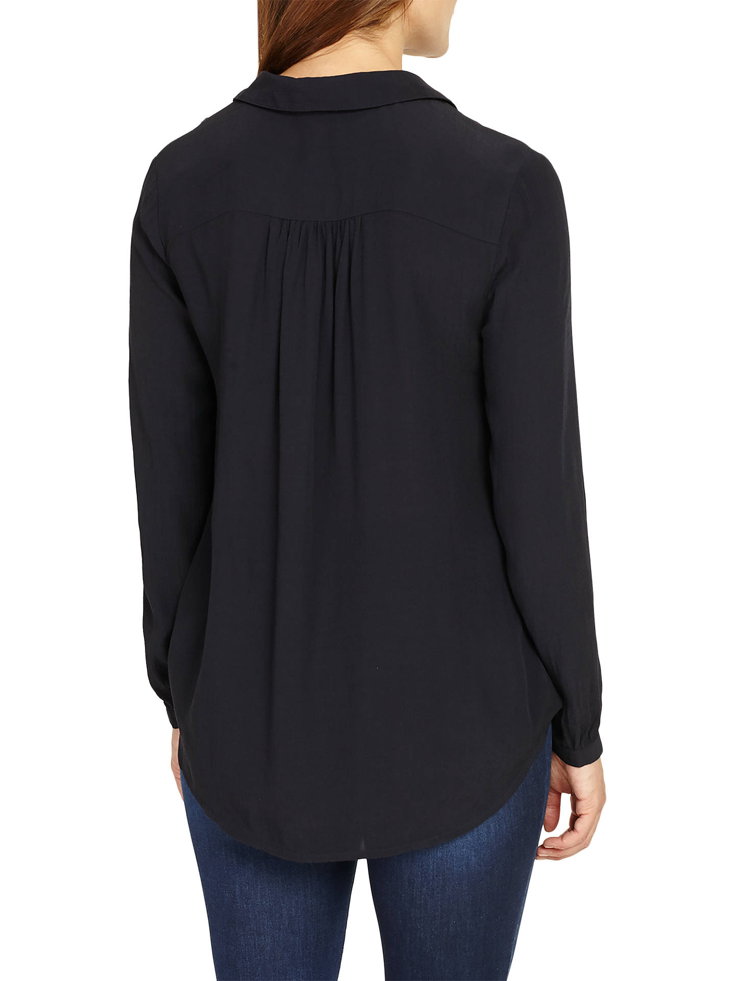 BuyPhase Eight Poppy Cross Over Blouse, Navy, 8 Online at johnlewis.com