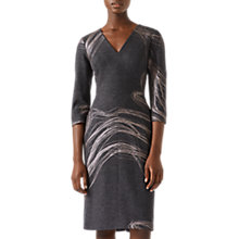 Buy Jigsaw Storm Contours Viola Pencil Dress, Grey Online at johnlewis.com