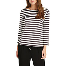 Buy Phase Eight Otto Stripe Top, Charcoal/Ivory Online at johnlewis.com