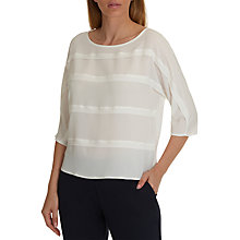 Buy Betty & Co. Crepe and Jersey Blouse, Star White Online at johnlewis.com