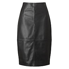 Buy Jigsaw Leather High Waisted Pencil Skirt Online at johnlewis.com