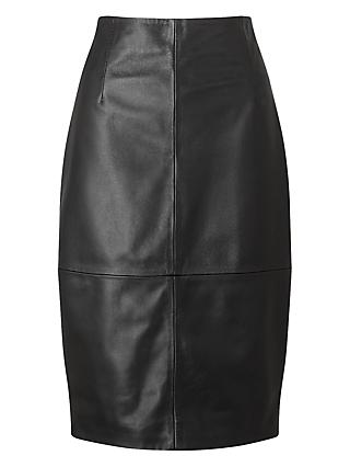 cd68602d7011a Jigsaw Leather High Waisted Leather Pencil Skirt