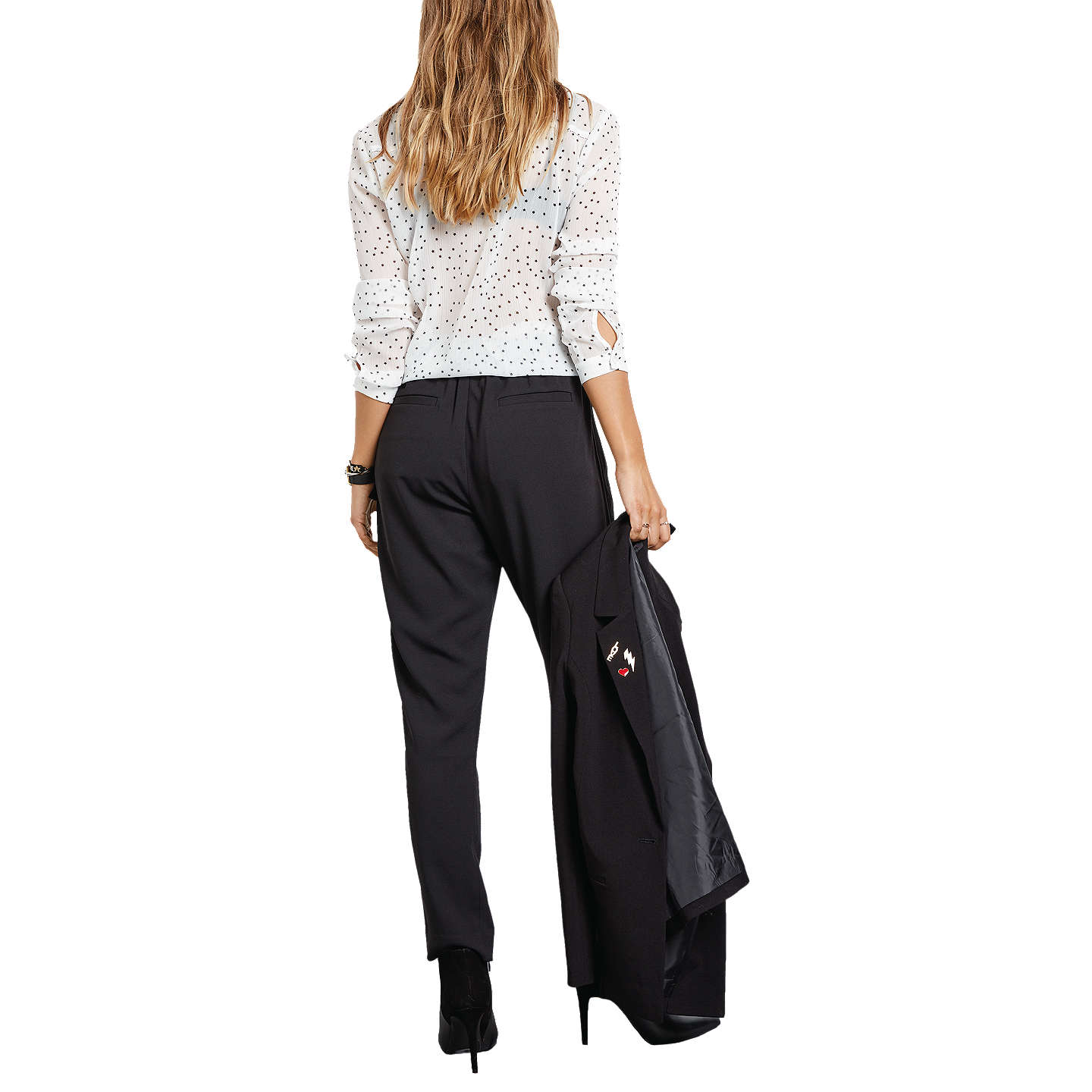 Buyhush Winona Trousers, Black, 6 Online at johnlewis.com