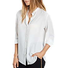 Buy hush Contrast Stitch Shirt, Ecru/Black Online at johnlewis.com