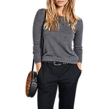 Buy hush Fine Katie Crew Jumper, Mid Grey Marl Online at johnlewis.com