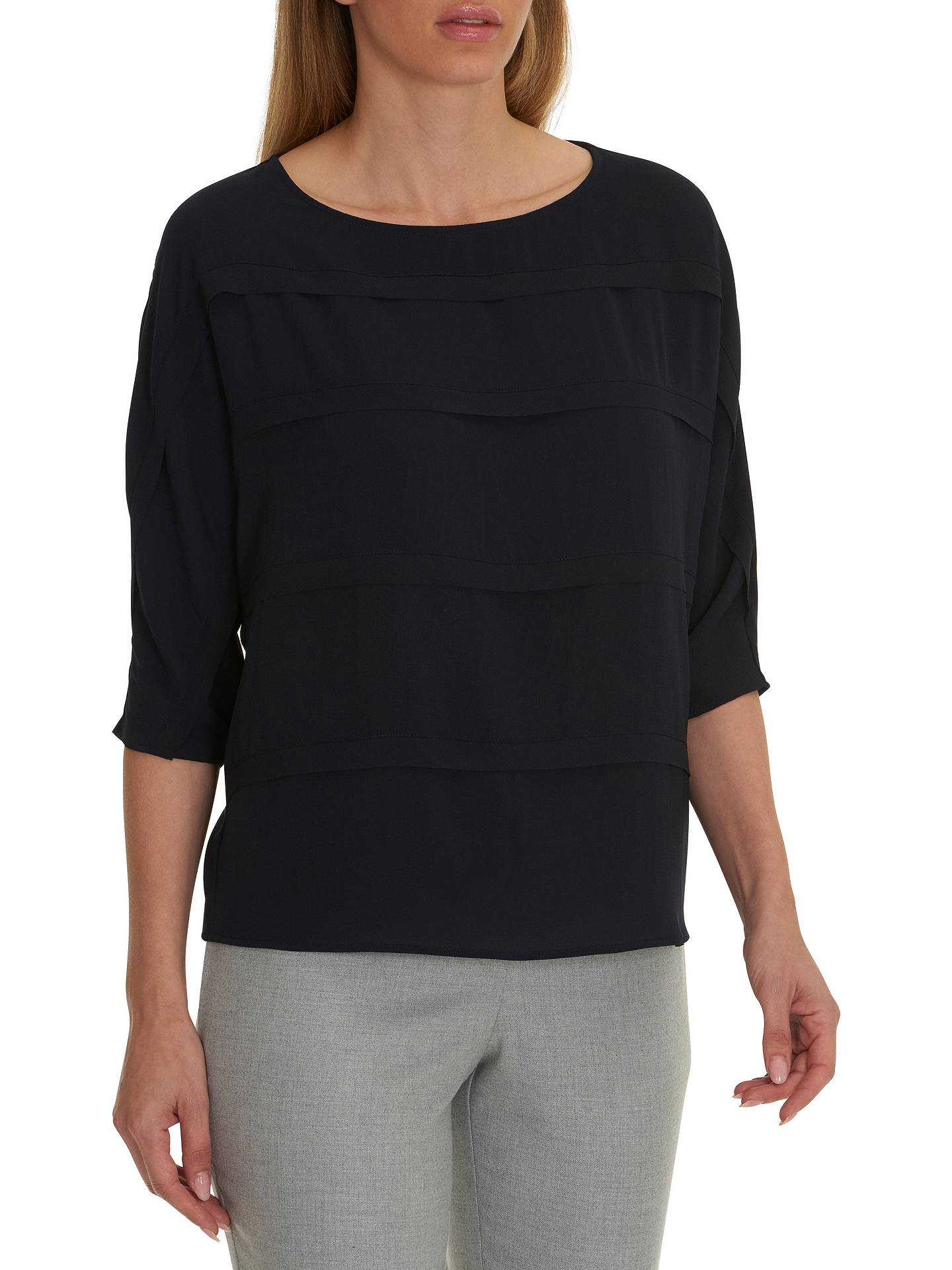 BuyBetty & Co. Crepe Jersey Blouse, Mood Blue, 10 Online at johnlewis.com