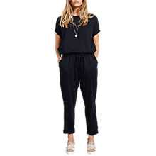 Buy hush Tyler Jersey Jumpsuit, Black Online at johnlewis.com