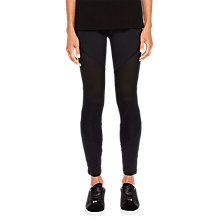 Buy Ted Baker Ted Says Relax Atcro Mesh Cut Out Leggings, Black Online at johnlewis.com