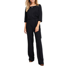 Buy hush Avery Belted Jumpsuit, Black Online at johnlewis.com