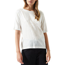 Buy Jigsaw Silk Poem Print Batwing T-Shirt Online at johnlewis.com