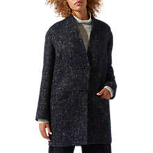 Buy Jigsaw Textured Sculptured Coat, Navy Online at johnlewis.com