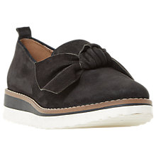 Buy Dune Gardinia Bow Wedge Heel Loafers, Black Online at johnlewis.com