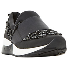 Buy Dune Elisha Embellished Slip On Trainers, Black Online at johnlewis.com