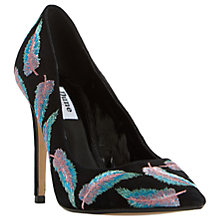 Buy Dune Baudo Stiletto Heeled Court Shoes, Black Online at johnlewis.com