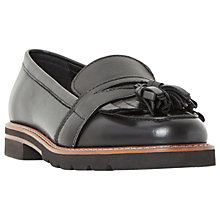 Buy Dune Gennaa Tassel Loafers, Black Online at johnlewis.com