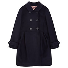 Buy Jigsaw Girls' Melton Double Breasted Coat, Navy Online at johnlewis.com