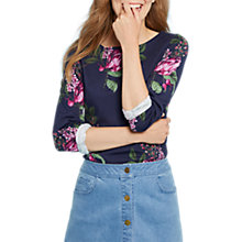 Buy Joules Harbour Long Sleeve Printed Jersey Top, French Navy Artichoke Floral Online at johnlewis.com