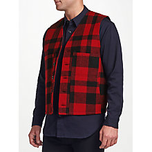 Buy Filson Mackinaw Wool Plaid Vest, Red Online at johnlewis.com