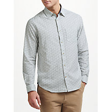 Buy John Lewis Leaf Block Print Shirt, White Online at johnlewis.com