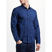 Buy Kin by John Lewis Camo Print Shirt, Navy Online at johnlewis.com