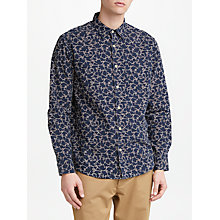 Buy JOHN LEWIS & Co. Japanese Line Dot Shirt, Navy Online at johnlewis.com