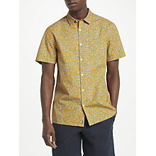 Buy Kin by John Lewis Short Sleeve Camo Shirt, Orange Online at johnlewis.com