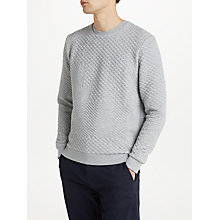 Buy Kin by John Lewis Patchwork Sweatshirt, Grey Marl Online at johnlewis.com