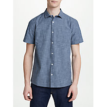 Buy Kin by John Lewis Short Sleeve Chambray Shirt, Grey Online at johnlewis.com