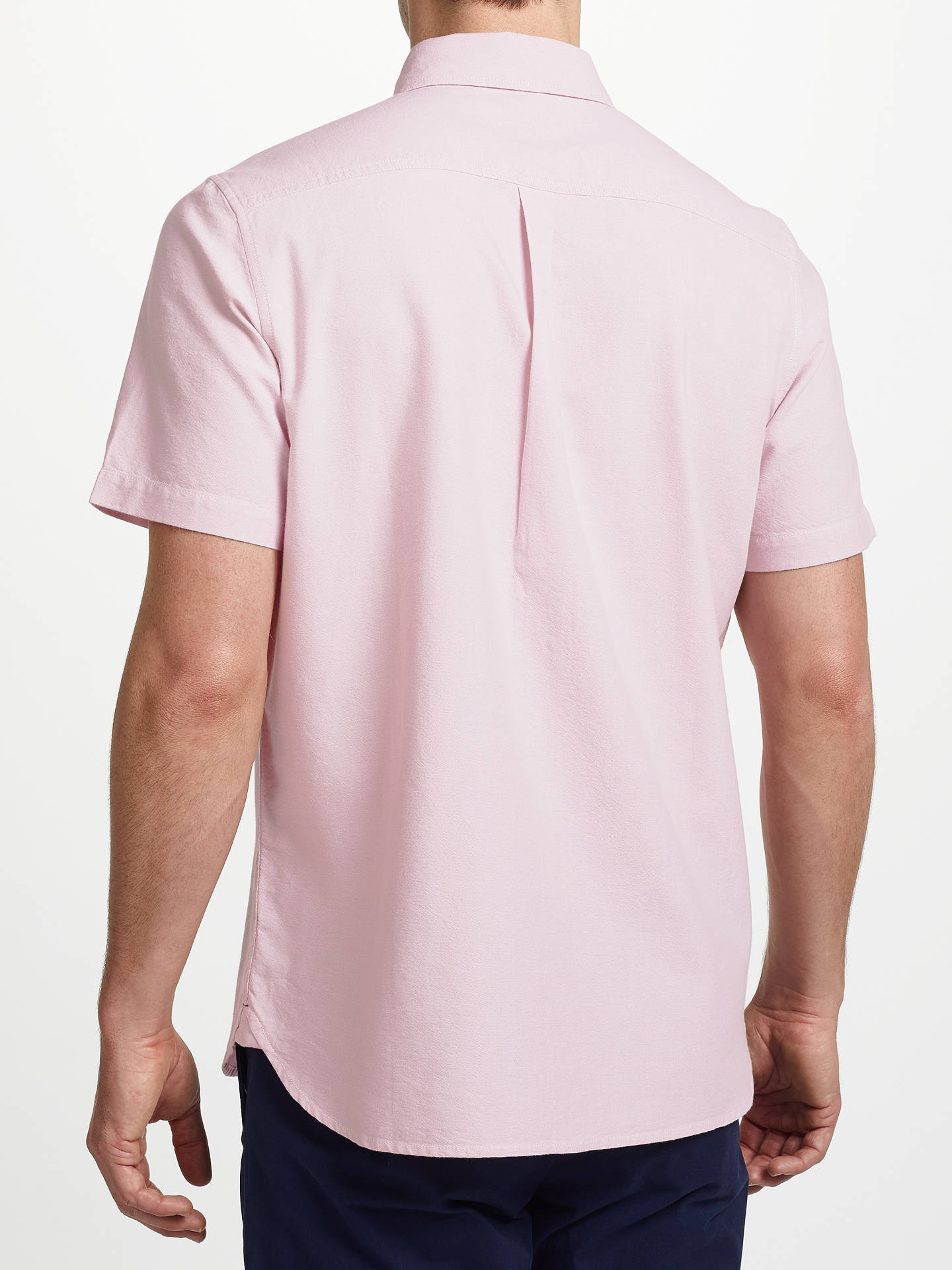 BuyJohn Lewis & Partners Cotton Oxford Short Sleeve Shirt, Pink, S Online at johnlewis.com