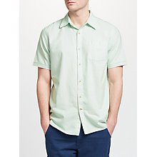 Buy John Lewis Scotts Stripe Short Sleeve Oxford Shirt, Light Green Online at johnlewis.com
