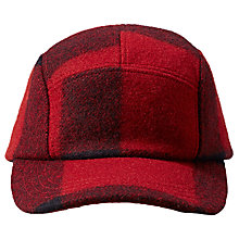 Buy Filson Five Panel Mackinaw Wool Cap, One Size, Red Online at johnlewis.com