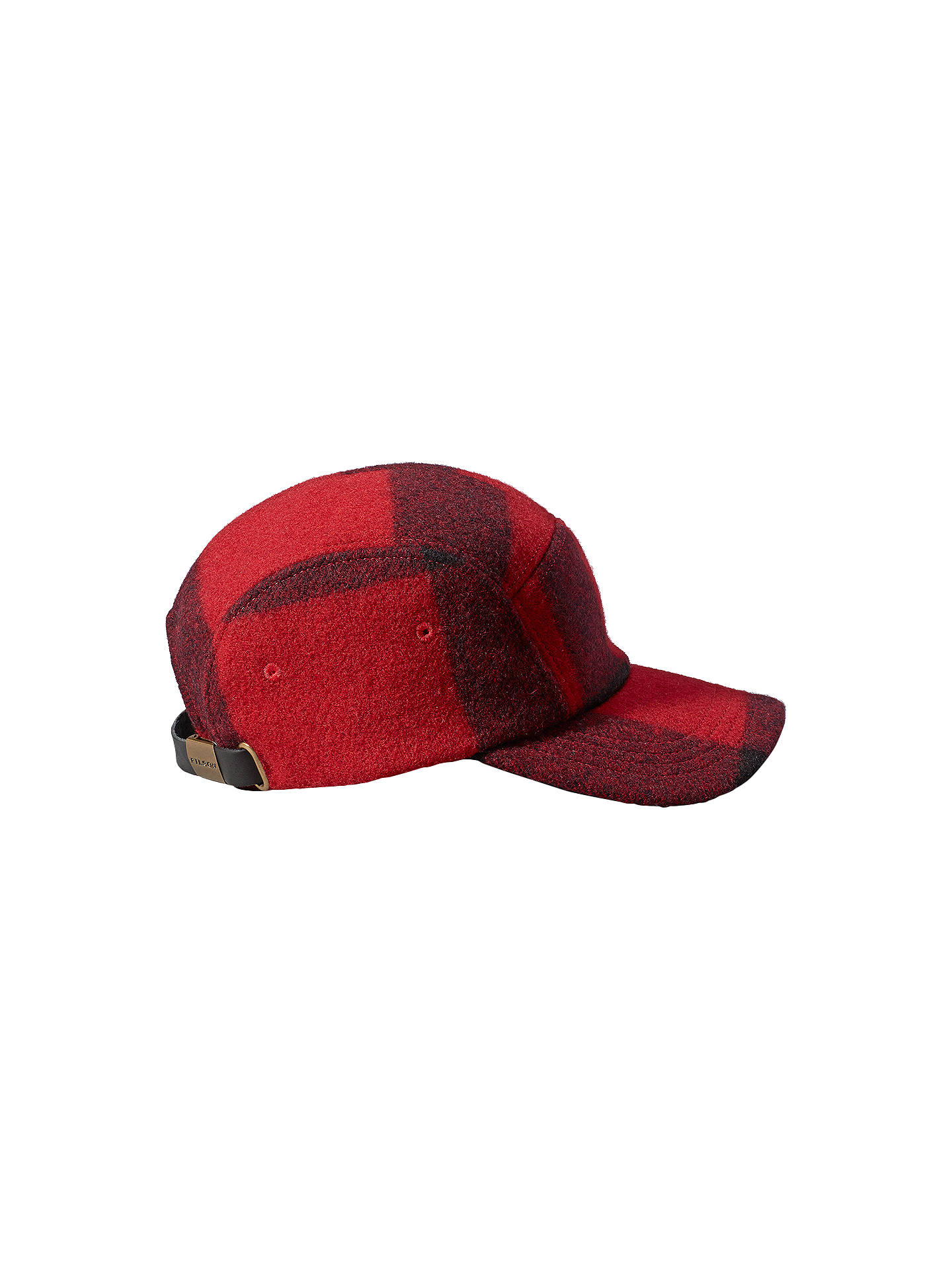c232c16a Buy Filson Five Panel Mackinaw Wool Cap, One Size, Red Online at johnlewis.