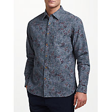 Buy John Lewis Flower Print Shirt, Blue Online at johnlewis.com