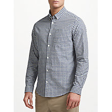 Buy John Lewis Gingham Oxford Shirt, Navy Online at johnlewis.com