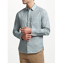 Buy John Lewis Dahlia Tile Print Shirt, Navy Online at johnlewis.com