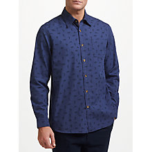 Buy John Lewis Tiger Print Shirt, Navy Online at johnlewis.com