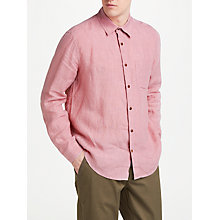 Buy JOHN LEWIS & Co. Linen Shirt, Pink Online at johnlewis.com