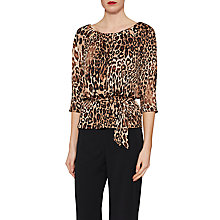 Buy Gina Bacconi Talia Keyhole Animal Print Top, Brown/Multi Online at johnlewis.com