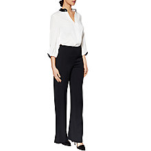 Buy Gina Bacconi Jane Crepe Trousers, Black Online at johnlewis.com