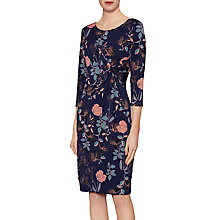 Buy Gina Bacconi Sarah Floral Knot Dress, Navy Online at johnlewis.com