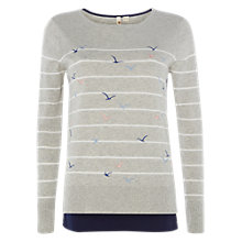 Buy White Stuff Flocking Birds Jumper, Silver Grey Online at johnlewis.com