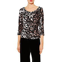 Buy Gina Bacconi Margaret Floral Velvet Top Online at johnlewis.com