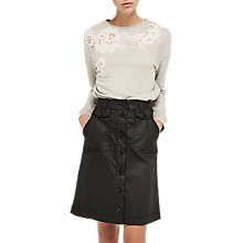 Buy Gerard Darel Abeille Skirt, Black Online at johnlewis.com