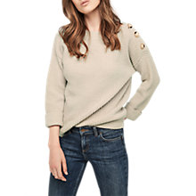 Buy Gerard Darel Luhan Boat Neck Knitted Jumper, Beige Online at johnlewis.com