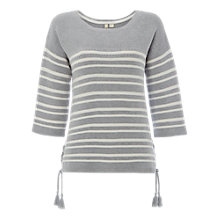 Buy White Stuff Cliff Stripe Jumper, Silver Grey Online at johnlewis.com