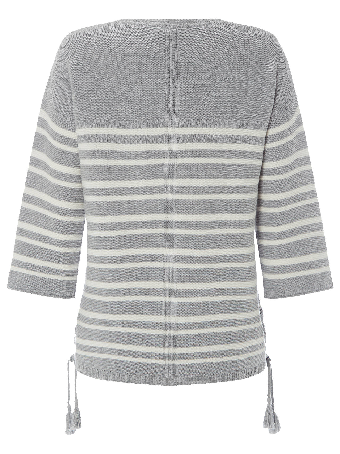 BuyWhite Stuff Cliff Stripe Jumper, Silver Grey, 6 Online at johnlewis.com
