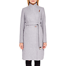 Buy Ted Baker Khera Wool Cashmere Blend Wrap Coat, Light Grey Online at johnlewis.com