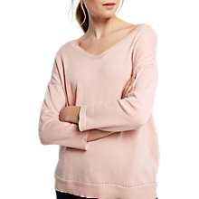 Buy White Stuff Autumn Harvest V-Neck Jumper, Dusty Pink Online at johnlewis.com